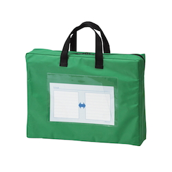 Mail Bag, Gusseted W Fastener, Green Standard: A4 Size with Gore, Outer Dimension: Height 270 x Width 360 x Depth 80 mm