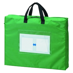 Mail Bag, Gusseted W Fastener, Green Standard: B4 Size with Gore, Outer Dimension: Height 350 x Width 430 x Depth 80 mm