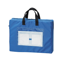 Mail Bag, Gusseted W Fastener, Blue Standard: A4 Size with Gore, Outer Dimension: Height 270 x Width 360 x Depth 80 mm