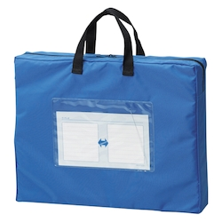 Mail Bag, Gusseted W Fastener, Blue Standard: B4 Size with Gore, Outer Dimension: Height 350 x Width 430 x Depth 80 mm