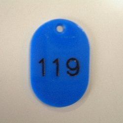 Small Number Ticket, Serial 101-200 Blue