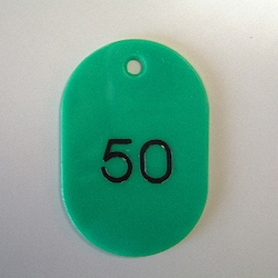 Large Number Ticket, Serial 1-50 Green