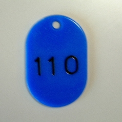 Large Number Ticket, Serial 101-150 Blue