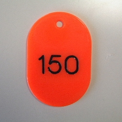 Large Number Ticket, Serial 101-150 Red