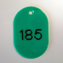 Large Number Ticket, Serial 151-200 Green