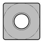 "Square 90°, Negative, with Hole / without Hole SNMG1204○○-GC ""Rough Cutting"", Cast Iron"