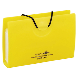 AQUA DROPs Point Card Holder 10 Pieces Yellow