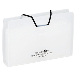 AQUA DROPs Point Card Holder 10 Pieces Milk White