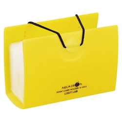 AQUA DROPs Point Card Holder 20 Pieces Yellow