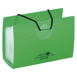 AQUA DROPs Point Card Holder 20 Pieces Yellow-Green