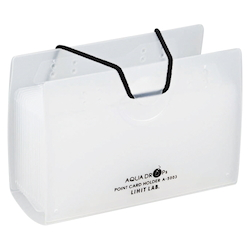AQUA DROPs Point Card Holder 20 Pieces Milk White