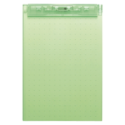 AQUA DROPs Ultra-Thin Clipboard A4 Yellowish Green