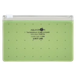 Clear Case, A8 Wide, Yellow Green