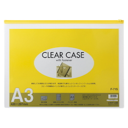 Clear Case, Horizontal Type, A3S, Yellow