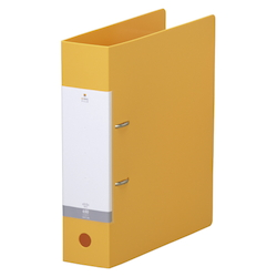 Request / D-Type Ring File, A4 Size Portrait, (Back Width 74 mm), Yellow