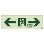 High Brightness Phosphorescent Escape Route Stickers 120 mm X 360 mm