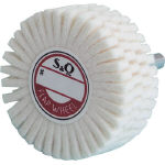 """Slitted Felt Wheel with Shaft"" (Shaft Diameter: 6 mm)"