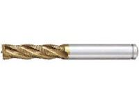 AS Coated High-Speed Steel Roughing End Mill, Regular, Center Cut
