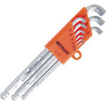Stubby Long L-Shape Ball End Hollow Hex Key Set - 9 Piece Set, 1/16in to 3/8in (MITOLOY)