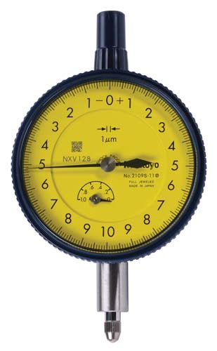 "ANSI/AGD Type Metric Dial Indicator with ø3/8"" Stem and #4-48UNF-Thread Contact Point Compatible Type"