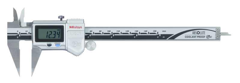 "573-721-20, Digital ABS Point Caliper, Fine Type, Inch/Metric, 0-6"", IP67, Thumb Roller, Series 573 (MITUTOYO)"