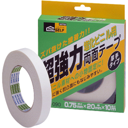 Heavy Duty Double-Sided Tape for Polyvinyl Chloride Applications, Thick Type (Box)