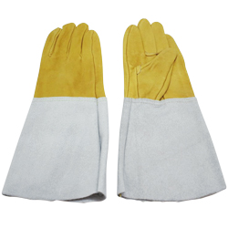 Leather Combination 5 Finger Welding Gloves
