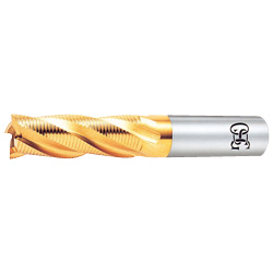 TiN Coating, End Mill (Roughing Medium, Fine-Pitch Type) EX-TIN-RENF