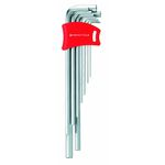 Long L-Shape Hex Key - 0.71mm to 10mm, Available in 6 or 9 Piece Sets, 211H, 211DH Series (PB SWISS TOOLS)