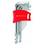 L-Shape Ball End Hex Key - 1.5mm to 10mm, Available in 6 or 9 Piece Sets, 212H/212DH Series (PB SWISS TOOLS)