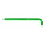 Long L-Shape Ball End Hex Key - Green, 1.5mm to 10mm, 212L-GR Series (PB SWISS TOOLS)
