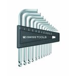 L-Shape Ball End Hex Key Set - 1/20in to 5/16in, Available in 7 or 12 Piece Sets, 212ZH Series (PB SWISS TOOLS)