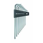 Long L-Shape Ball End Hex Key Set - 1/20in to 5/16in, Available in 7 or 12 Piece Sets, 212ZLH Series (PB SWISS TOOLS)