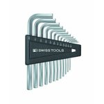 L-Shape Hex Key Set - 1/20in to 5/16in, Available in 7 or 12 Piece Sets, 213 Series (PB SWISS TOOLS)
