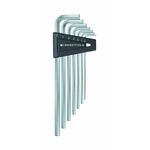 Long L-Shape Hex Key Set - Available in 7 or 12 Piece Sets, 1/20in to 5/16in, 214 Series (PB SWISS TOOLS)