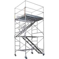Mobile Steel Scaffold Rolling Tower (with Internal Stairs)