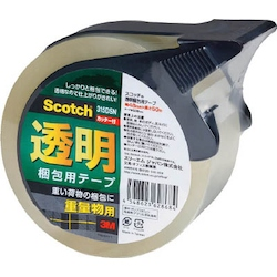 Scotch® Transparent Packing-Use Tape 315 Series (Heavy Item-Use) Cutter Attached