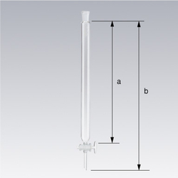 Ground Glass Joint Chromatographic Column with Glass Stop Valve