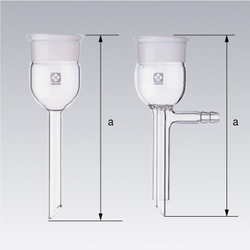 Ground Glass Joint Detachable Funnel-Stem Glass Filter