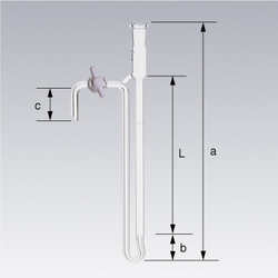 SPC Chromatography Tube, with PTFE Valve