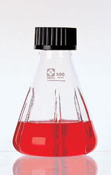 Screw Cap Shakable Erlenmeyer Flask, with Baffle