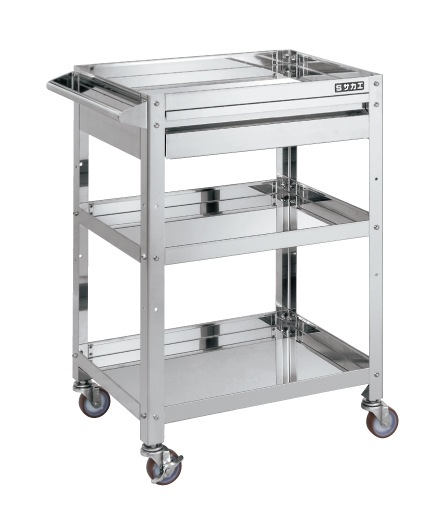 Stainless Steel Super Wagon with Drawers