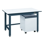 Light Weight Work Bench Model KK, Cabinet Wagon Provided, Balanced Load (kg) 350, Dark Gray