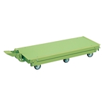 Work Bench Optional Pedal Elevator Hand Truck, 6 Wheel, Sakae Green