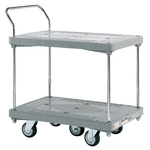 Resin Handcart, Five-Wheel Cart, Standard Caster, 2-Level One-Side Handle