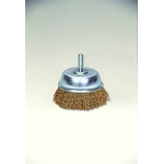 Steel Plated Wire Shaft Mounted Cup Brush (Yellow Strand)