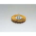 Quick Steel Wire, Plated Wire Wheel Brush (Yellow Strands)