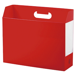 Add One, Box File, A4, Lateral, Red