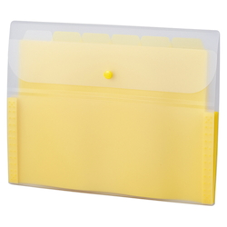 Document Folder, 5 INDEX, A4, Yellow