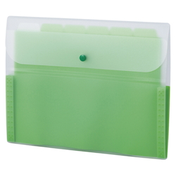 Document Folder, 5 INDEX, A4, Green